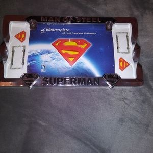 SUPERMAN License Plate Holder